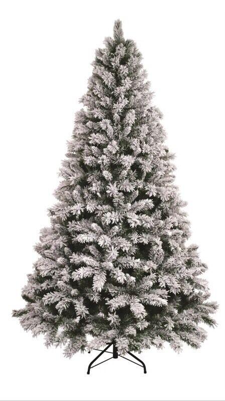 Superior Homebase Green Snowstorm Artificial Christmas Xmas Tree 210cm / 7ft