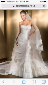 Cosmobella wedding dress size 8-10