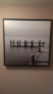 Wall Decor - Digital Picture of a Dock for Boats. $350