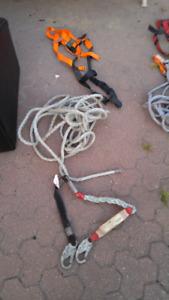 2 - 5 point harnesses and lanyards