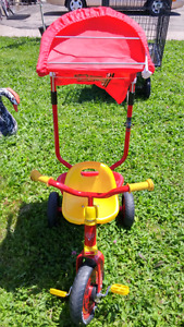 Toddler trike  also selling a bike trailler