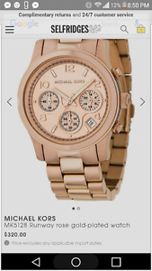 Michael Kors rose gold plated womans watch