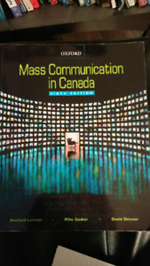 Mass Communication in Canada 6th edition