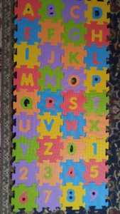 Alphabet and number floor big foam puzzle.Very good condition.