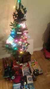Small 4 foot christmas tree with lights $50