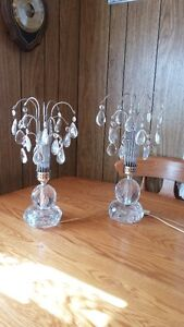 Crystal tear drop lamps