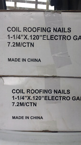 Roof coil nails