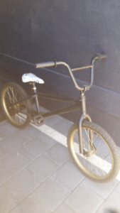 Bmx bike black and gold