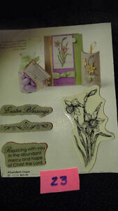 "Stampin Up Clear Stamps ""Abundant Hope Collection"" Scrapbooking"