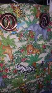 Animal themed curtains for baby/child room. Strathcona County Edmonton Area image 3
