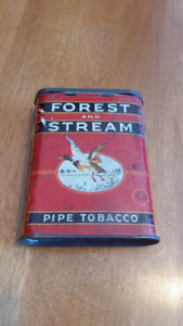 FOREST & STREAM POCKET TOBACCO TIN;