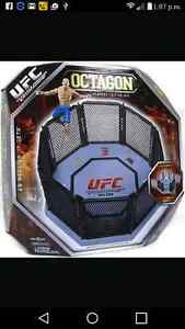 U.F.C. OCTAGON WITH SEVERAL FIGHTER FIGURES OCTAGON IS NEW