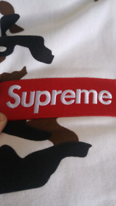 Supreme Hoodie (cow camo box logo  Not deadstock)