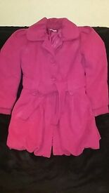 Girls fuchsia pink coat, age 12