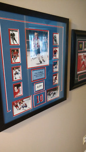 Guy Lafleur signed twice 8x10 picture montage