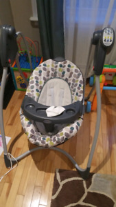 Lightly used Graco baby swing
