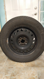 Set of four Michelin snow tires on rims 235/65 R17