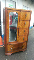 Antique Cedar Lined Bedroom Wardrobe/Dresser