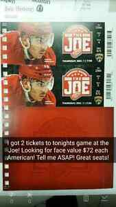 Tickets to tonights Detroit Red Wings Vs Florida Panthers game Windsor Region Ontario image 1