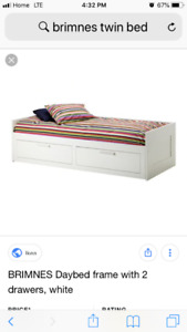 Twin Brimnes Bed barely use with mattress $300
