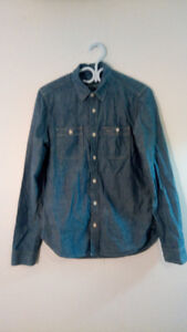 Gap Chambray Shirt XS Extra Small - Indigo Colour