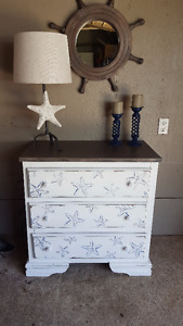 Coastal theme cabinet/dresser/change table.