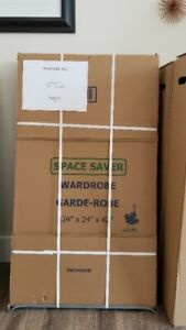 Moving? Easily pack your outfits with a wardrobe box!