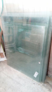 Glass sheets, various sizes