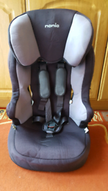 Nania car seat in good condition for weight 9 kg to 36 kg .
