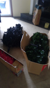 Xmas in March! 3 Christmas trees.