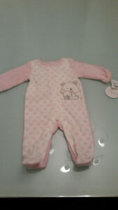 BNWT - Girl fleece sleeper Asorba 3-6months