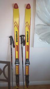 Skiis and poles