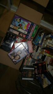 VHS and DVD movies for sale
