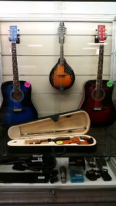 A Variety Of Instruments at One Mans Treasure!