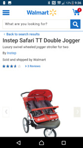 Double stroller + cover/weather shield