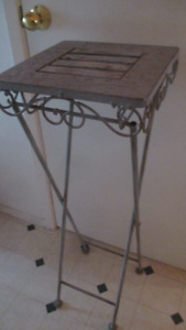 PLANT TABLE, SHABBY CHIC, FOLDING