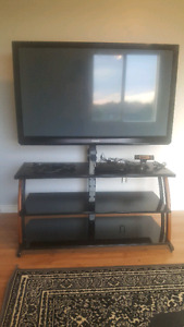 50 smart tv with stand