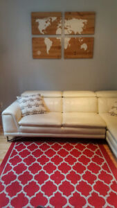Beautiful white L-shaped couch in great condition!