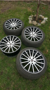 4 rims Dcenti Bolt patter (5 x 120) + 3 summer tire 225 40 R18