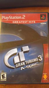 Gran Turismo 3 A-Spec PS2 +case and manual
