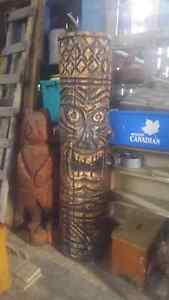 Chainsaw carved Tiki man Kingston Kingston Area image 2