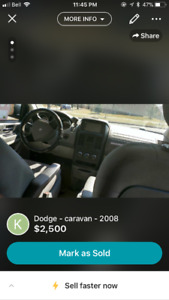 AS IS 2008 Dodge Caravan Minivan, Van