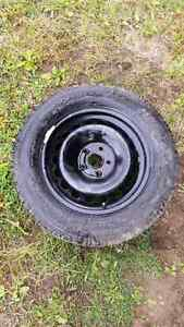 225/60R16 studded winter tires and rims Prince George British Columbia image 1