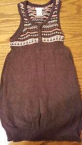 Knit dress-brown