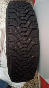 Four Goodyear Nordic Winter Tires P155/80R13