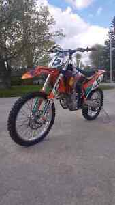 2014 ktm 450 sxf with lots of extras extremely low hours
