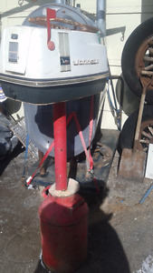 1 of a kind Mailbox built using 40hp johnson boat motor cover