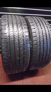 265/60R20 GOODYEAR WRANGLER SET OF 2 used allseason tires 75%