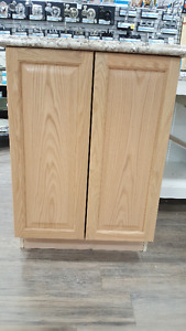 Solid Oak Base Cabinet with Counter