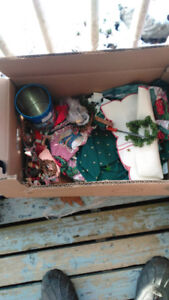 Last week.  Xmas decorations   box lots  cheap